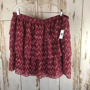 NWT GAP Tiered skirt, size XL.  K56